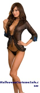 CHIFFON ROBE WITH THONG