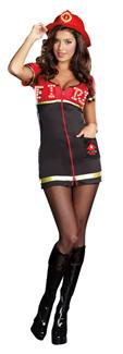 BURN BABY BURN ADULT COSTUME