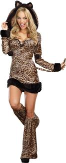 CHEETAH LUSCIOUS PLUS SIZE ADULT COSTUME