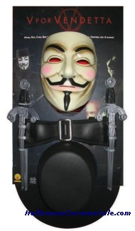V FOR VENDETTA KIT ADULT SIZE
