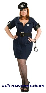 LAW OFFICER ADULT COSTUME PLUS SIZE