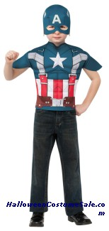 CAPTAIN AMERICA TOP CHILD COSTUME