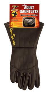 ZORRO GAUNTLETS ADULT SIZE