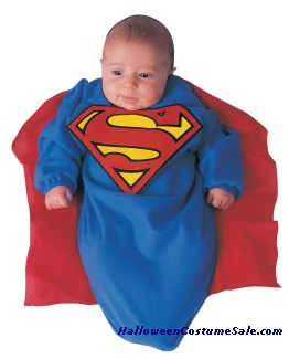 SUPERMAN DELUXE BUNTING CHILD COSTUME