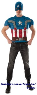 CAPTAIN AMERICA TOP ADULT COSTUME