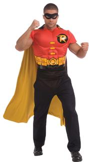 ROBIN MUSCLE SHIRT CAPE ADULT COSTUME