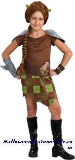 SHREK 4 FIONA WARRIOR CHILD COSTUME