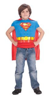 SUPERMAN MUSCLE SHIRT CAPE CHILD COSTUME