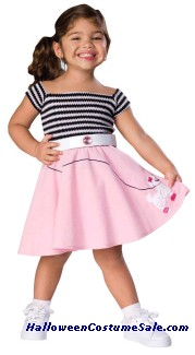 50S GIRL TODDLER COSTUME