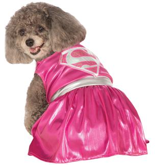 PET COSTUME PINK SUPERGIRL