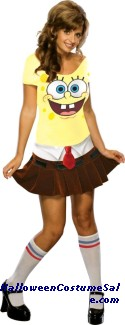 SPONGEBABE ADULT COSTUME