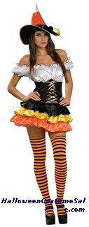 CANDY CORN CUTIE ADULT COSTUME