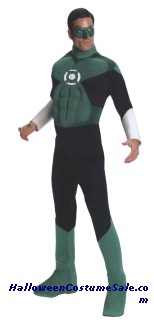 GREEN LANTERN DELUXE MUSCLE ADULT COSTUME