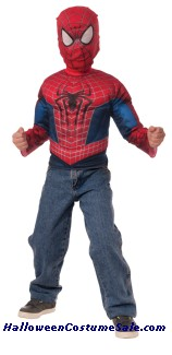 SPIDERMAN MUSCLE CHEST SHIRT CHILD COSTUME