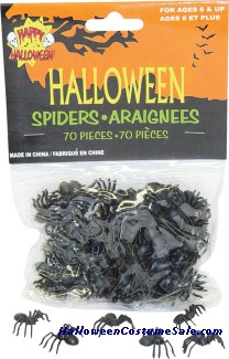 70 PIECES SMALL SPIDERS