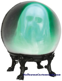 CRYSTAL BALL WITH FACE OUT GHOST