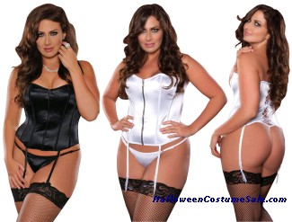 CORSET & THONG SET PLUS SIZE