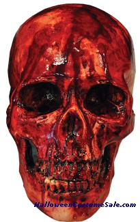 BLOODY SKULL RESIN PROP
