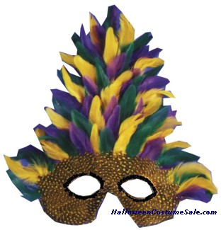 MASK, MARDI GRAS TALL FEATHER