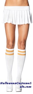 ATHLETIC WHITE GOLD ADULT KNEE HIGHS