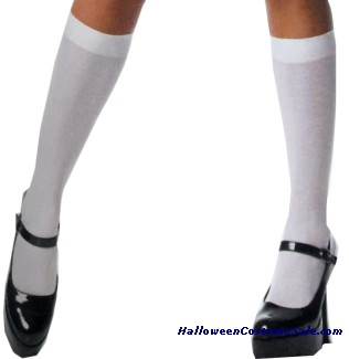KNEE HI WHITE NYLON