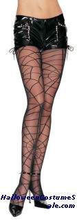 TIGHTS SHEER W/OPAQUE SPIDER