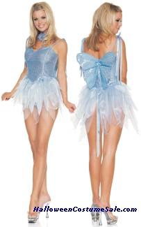 BLUE GLITTER FAIRY COSTUME