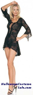 FLAIR SLEEVES DRESS G-STRING