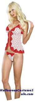 BABYDOLL WITH SEQUINED LACE