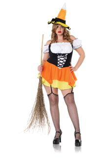 Adult Candy Corn Witch Costume