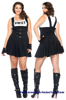 SULTRY SWAT OFFICER PLUS SIZE COSTUME