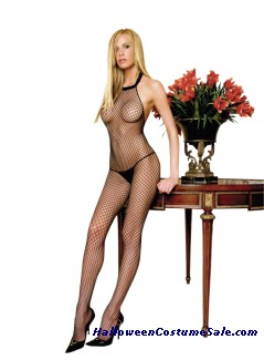 NET HALTER BODYSTOCKING