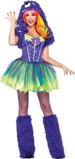 PURPLE POSH MONSTER ADULT COSTUME