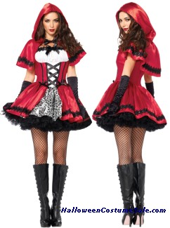 GOTHIC RED ADULT COSTUME