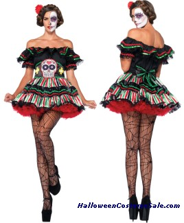 DAY OF DEAD DOLL ADULT COSTUME