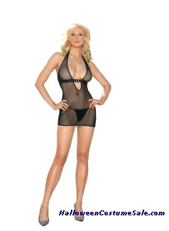 HALTER DRESS WITH G-STRING