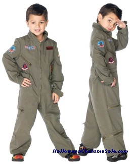 TOP GUN FLIGHT SUIT CHILD COSTUME