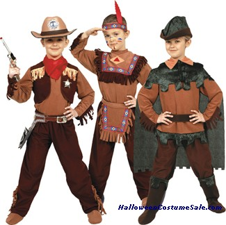 COWBOY/INDIAN/PETER PAN CHILD COSTUME