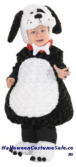 BLACK AND WHITE PUPPY TODDLER COSTUME