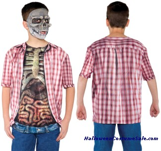SKELETON WITH GUTS SHIRT CHILD COSTUME