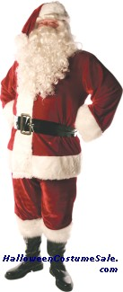 SANTA SUIT LINED COSTUME