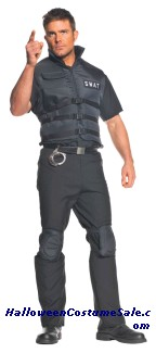 SWAT MENS ADULT COSTUME