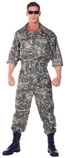 US ARMY JUMPSUIT PLUS SIZE ADULT COSTUME