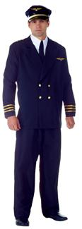 AIRLINE CAPTAIN PLUS SIZE ADULT COSTUME