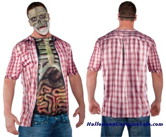 PHOTO REAL SHIRT SKELETON FEMALE ADULT COSTUME