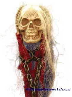 Hanging Skull with Hands and Chain