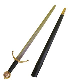 SWORD MEDIEVAL AND SCABBARD