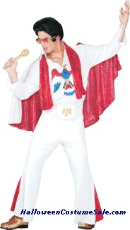 ELVIS DELUXE WHITE JUMPSUIT ADULT