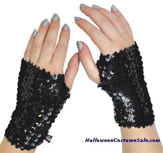 MONSTER HIGH BLACK SEQUIN CHILD ARM WARMER