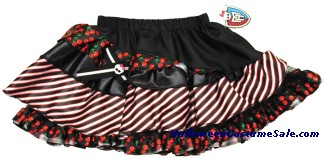 MONSTER HIGH BLACK & RED CHILD PETTISKIRT